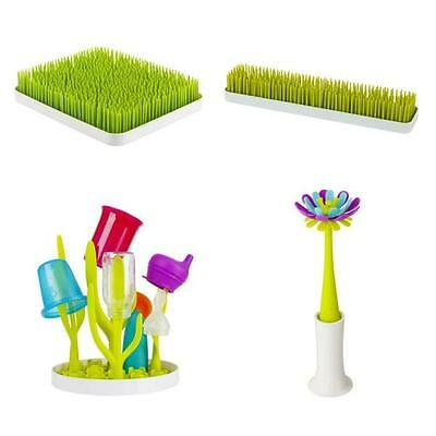 Boon Grass Patch Baby Bottle Drying Rack Countertop Utensils Green Lawn Kitchen