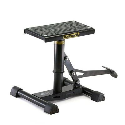 Unit Motocross Mx Enduro Offroad Rubber Top Bike Lift Up Jack Up Stand Black