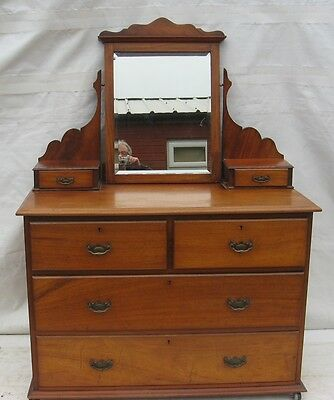 An Edwardian Mahogany dressing Chest(delivery possible)