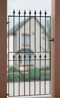 Metal Spear Top Garden Side Gates fits 845 to 1000mm Gap x 1830mm H wrought iron