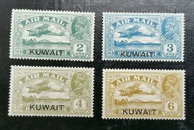 Kuwait, 1933-34, George V, Sc C 1-4, All MNH except C1 MLH, VF, signed.