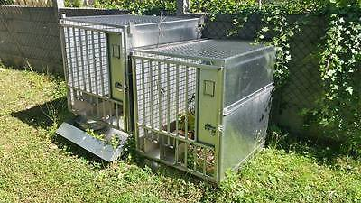 Lot Cages Inox veterinaire