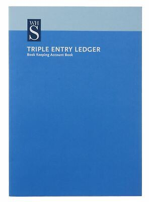 WHSmith Triple Entry Ledger A4 Book Keeping Account Book 48 Pages