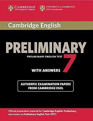 Cambridge English Preliminary 7 Student's Book with Answers (PET Practice Tests