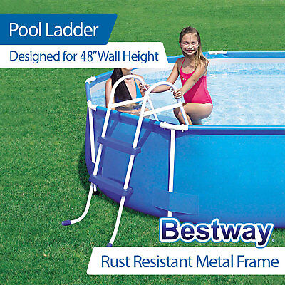 NEW Bestway Ladder for Above Ground Swimming Pool 122cm 48 inch Deep 58097