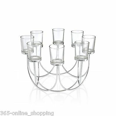 8 Tea Light Glass Candle Holder Centrepiece Christmas Wedding Table Decoration
