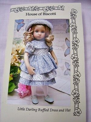 """Effner 13"""" Little Darling Ruffled Dress and Hat Pattern"""