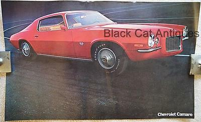Original Chevy Camaro RS/SS Coupe Poster Sell Sheet Info Over-sized 17 3/4 X 11