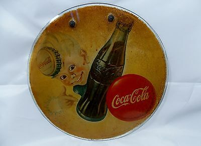 Very rare coke coca cola advertising sign one of a kind sprite boy 1947