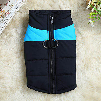 Dog Pet Waterproof Winter Warm Jacket Coat Outdoor Quilted Padded Puffer