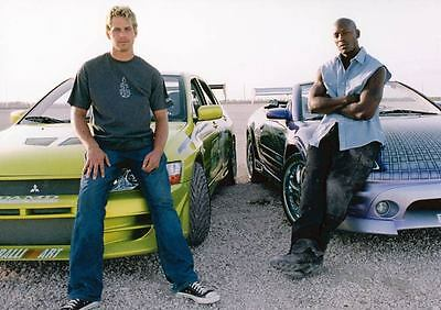 2003 Mitsubishi Lancer & Eclipse 2 Fast 2 Furious Postcard Paul Walker my2177