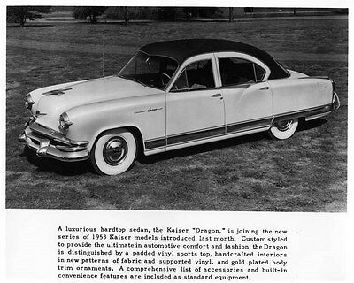 1953 Kaiser Dragon ORIGINAL Factory Photo oae4156