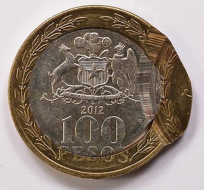 Chile 2012 100 Pesos Double-Struck 2nd Strike 85% Off-Center BU