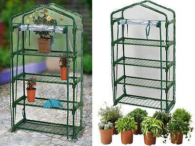 Large New 4 Tier Cold Frame Mini Greenhouse Grow House Pvc Cover Garden Outdoor