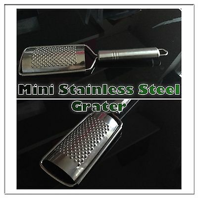Stainless Steel Kitchen Hard Cheese Lemon Orange Nutmeg Zester Mini Hand Grater