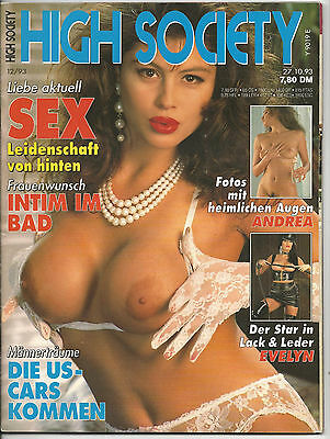 High Society - Nr.12/93 - Vintage Farbfoto-Magazin