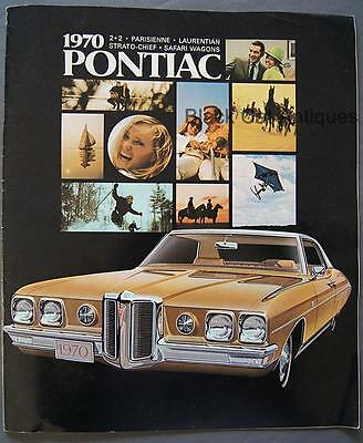 1970 GM Pontiac Parisienne 2+2 Laurentian Strato-Chief Safari Wagons Lg Brochure