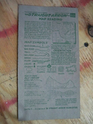 Straight Arrow Nabisco Card no. 3 Book Four Map Reading has writing on back