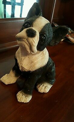United Design corp Classic Critters Vintage 1984 Boston Terrier Statue/figurine