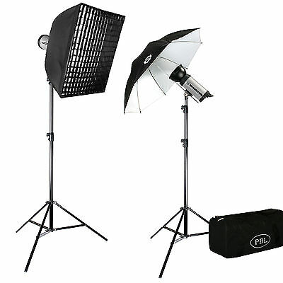 JensenBest SL300 Two Light Photography Studio Strobe Lighting Kit 600 w/s