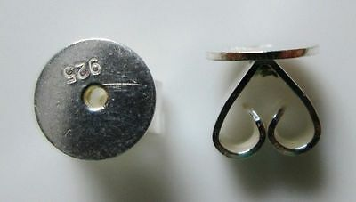 Sterling Silver 925 Heavy Duty Nuts One Pair