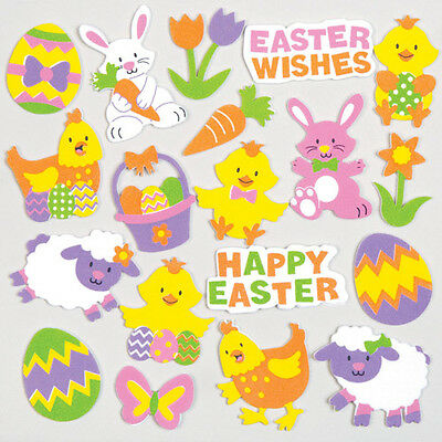 Easter Foam Stickers for Children to Decorate Cards and Crafts (Pack of 120)