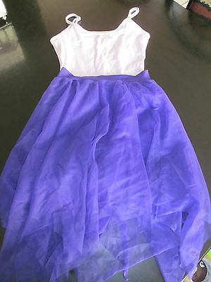Girls dance clothing lavander leotard and purple dance skirt size large child