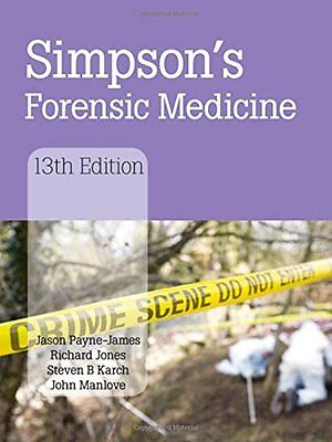 Simpson's Forensic Medicine, 13th Edition Copertina rigida