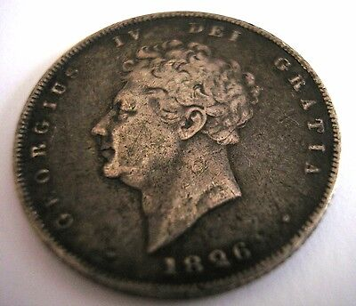 1826 - Great Britain - British - Uk - One Shilling - Silver  - George Iv -