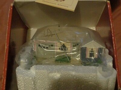 New, in Package, Hallmark Ranch Style House Miniature House