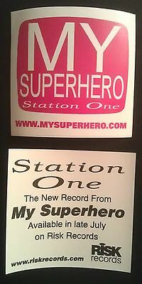 rare MY SUPERHERO ska promo sticker (music asyrum)
