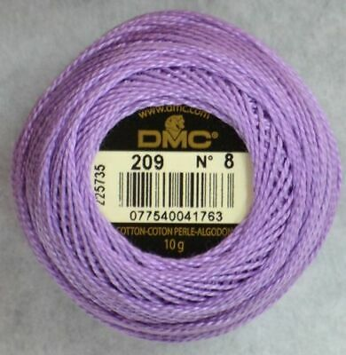 80m DMC Perle 8 Cotton 10g Ball #115 VARIEGATED GARNET