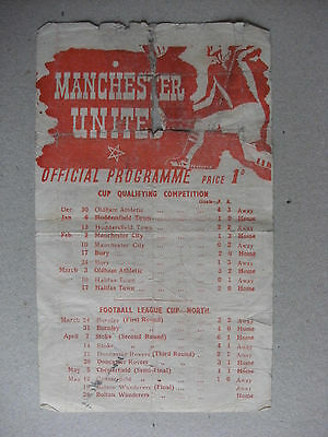 1945 Manchester United v Bolton Wanderers War Cup Final (North) 26-5-45 Original