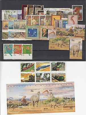 1993 year collection.of 44 stamps plus 1 x miniature sheet. MNH and cheap