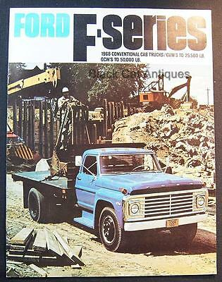 1968 Ford F-Series Conventional Cab Trucks GVW's 25 to 50,000 LB Dealer Brochure