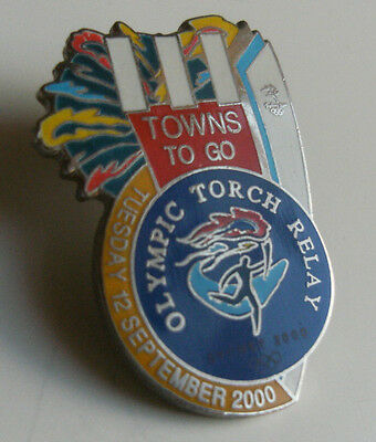 Metal Enamel Pin Badge - Olympic Games Sydney 2000 Australia - 111 Towns To Go