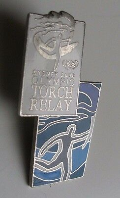 Metal Enamel Pin Badge - Olympic Games Sydney 2000 Torch Relay (Shop Ref 9)