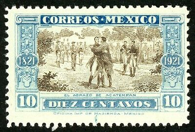 1921 Mexico Stamp #632, 10c blue and brown, MINT, VF, H