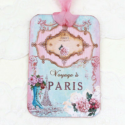 NEW Eiffel Tower Paris Turquoise Vintage Boot Gift Favour Tag -Tea Party-6