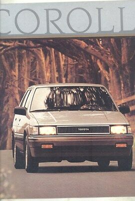 1986 Toyota Corolla GTS SR5 Sport Sedan Coupe Liftback Brochure my6643