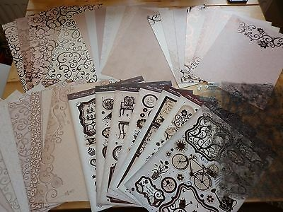 'antique Flourish' Toppers & Patterned Card -Luxury Card Collection By Hunkydory