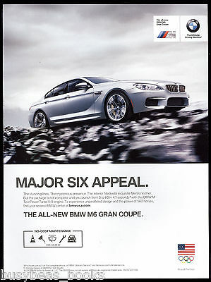 2013 BMW M6 advertisement, BMW M6 Gran Coupe, Major Six Appeal