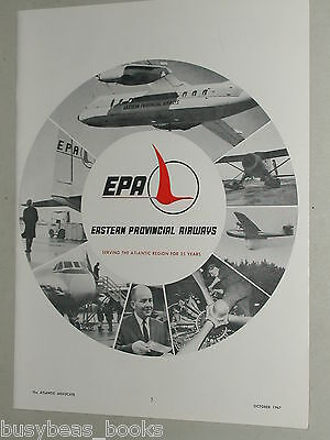 1967 Eastern Provincial Airways advertisement, EPA, Atlantic Canada airline
