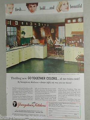 1955 Youngstown Kitchens advertisement, RETRO steel kitchen cabinets