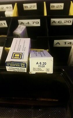 SQUARE D A 6.20 OVERLOAD RELAY THERMAL UNIT 0328《 《NEW IN BOX》》sold lot of 2