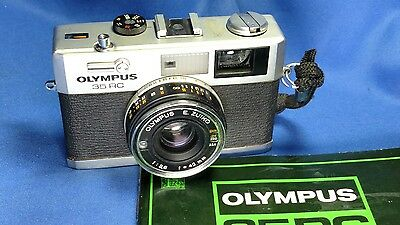 Vintage Olympus 35 RC 35mm Rangefinder Film Camera w/ Manual & Case