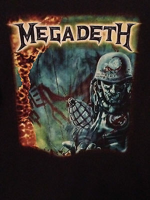 Megadeth Tour T Shirt Shadow of Deth Psalm 23 Dave Mustaine System Has Failed