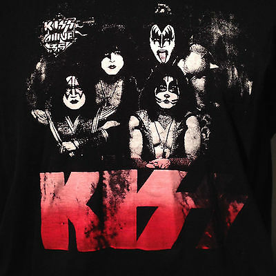 KISS Alive 35 2009 Canadian Canada Tour T Shirt Large Gene Simmons Paul Stanley