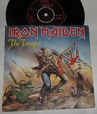 "Iron Maiden The Trooper A1 B1 Original 7"" Vinyl Ex Vg Red Label Record EMI 5397"