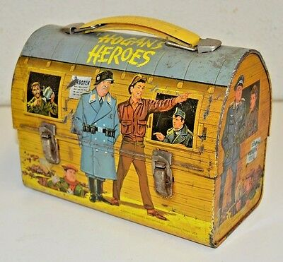 Vintage 1966 HOGAN'S HEROES Dome TV Show Metal Lunchbox C6.5 Rare